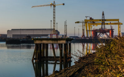 Belfast Titanic Quarter photograph Harland and Wolff
